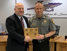 Sheriff Stacy Jarrard is February Partner in Education