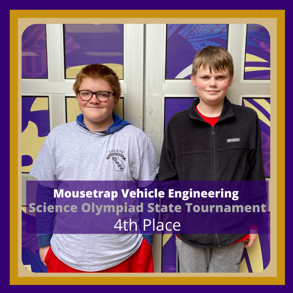 Science Olympiad Students in 4th place for Engineering