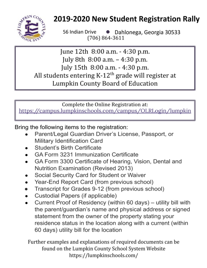 Registration Rally flyer