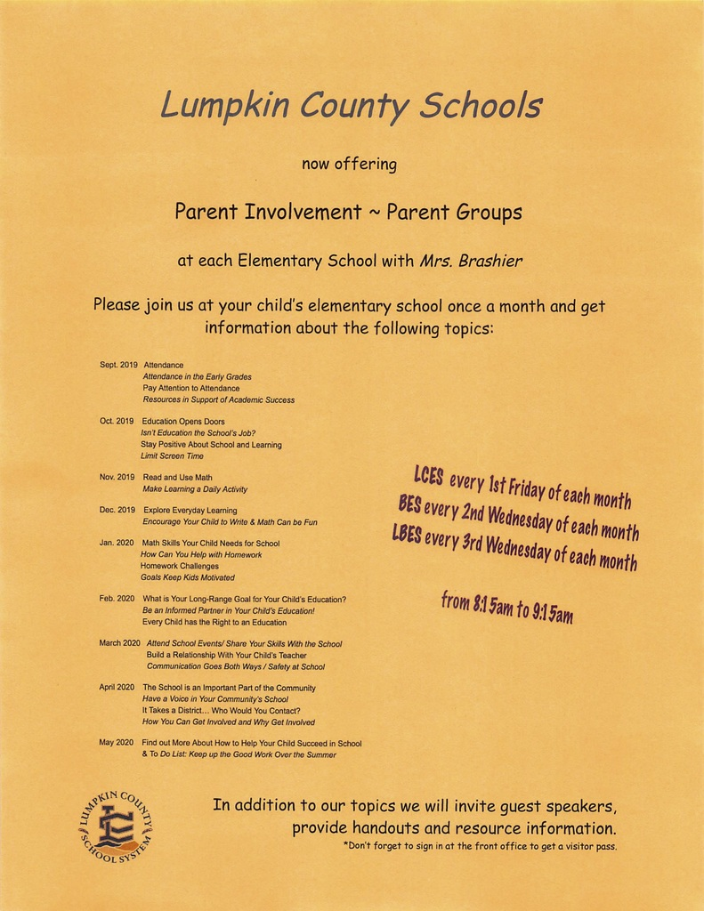 Parent Engagement flyer