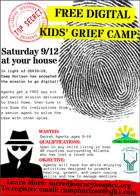 Kids' Grief Camp Flyer