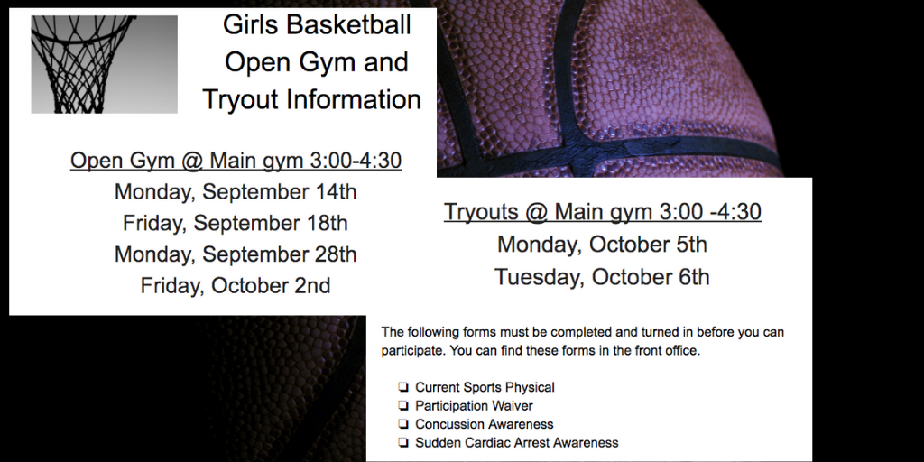 Girls' Basketball Flyer